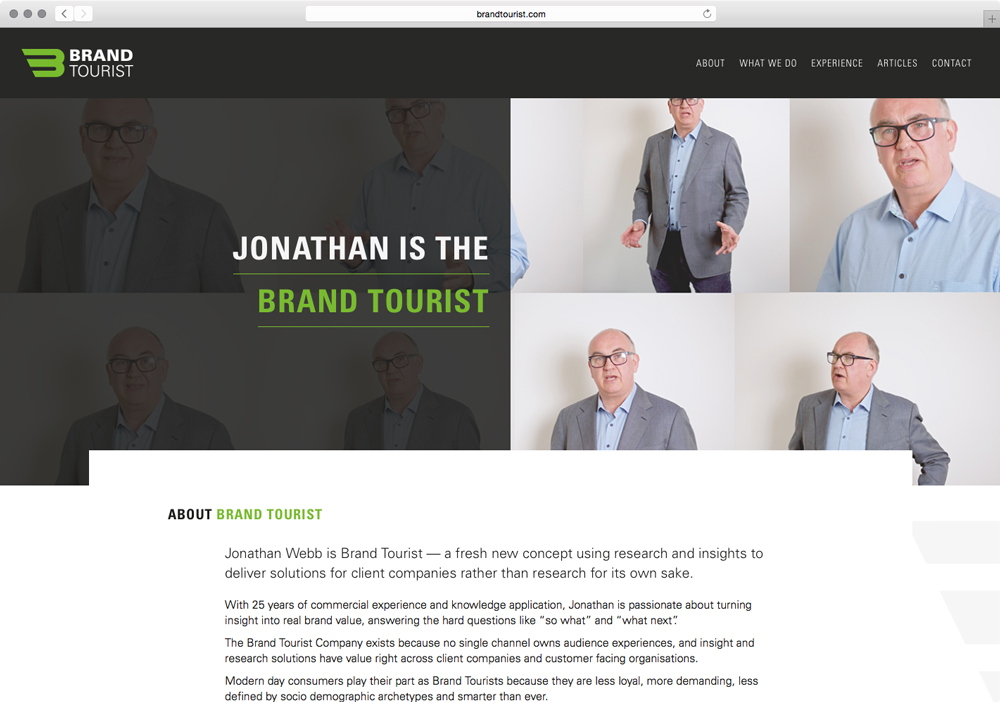 Brand Tourist About Page